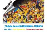 1 x 2 bilete la tribuna a-II-a pentru meciul Romania- Ungaria