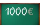 2 x 1000 euro, 95 x 100 ron