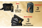 3 x voucher SmartExperience in valoare de 500 lei, 15 x rucsac Golden Horse, 25 x cooler bag + 6 doze de energizant Golden Horse