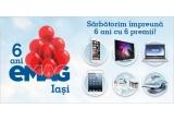 1 x iPhone 6 16GB Silver, 1 x Smart TV Philips – 3D Ultra HD 102 cm, 1 x Laptop Asus X550LD-XX144D cu procesor Intel Core i7-4500U, 1 x iPad Mini, 1 x robot de bucatarie Bosch, 1 x Fier de calcat fara fir Tefal FreeMove