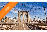 1 x 2 bilete de avion la New York