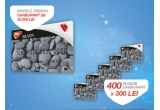 1 x card de carburant MOL Blue in valoare de 30.000 Lei, 400 x card de carburant MOL Blue in valoare de 300 Lei