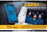 1 x Samsung Galaxy Note 4, instant:poster semnat de membrii trupei B.U.G. Mafia
