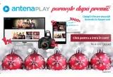 1 x Televizor Smart TV HD 102 cm, 5 x Tableta Odys 7 inch 3G, 5 x Camera Foto DSLR Canon, 3500 x voucher Antena Play