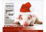 1 x porc intreg sau transat, 1 x brad de Craciun, 1 x cos cu produse de Craciun