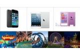 6 x iPhone 6, 6 x iPad Mini, 30 x iPod Nano, 1 x excursie de doua persoane la unul din cele mai mari parcuri de distractii din Europa