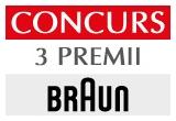3 x set produse Braun Face 831 editie premium constand in un epilator facial + perie de curatare facial cu micro oscilatii