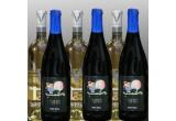 3 sticle de vin rosu Syrah, 3 de vin alb Chardonnay <br />