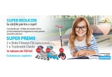 1 x trotineta Oxelo Mid 7, 2 x pereche de role pentru copii intre și 8 – 12 ani Oxelo Fitness Fit 3