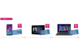 3 x smartphone Samsung Galaxy Note 4, 3 x tableta Sony Xperia Z2 LTE Black, 3 x laptop Acer Aspire ES1-512-P8B4