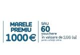1 x 1000 euro, 60 x voucher evoMAG de 100 lei