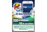 100 x Abonament Digi Mobil Optim 2 pentru 12 luni + telefon Samsung smart