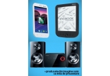 1 x telefon mobil, 1 x sistem audio, 1 x ebook reader
