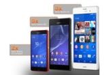 3 x smartphone Sony Xperia Z3, 2 x smartphone Sony Xperia Z3 Compact, 5 x smartphone Sony Xperia M2