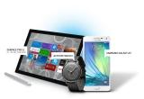 1 x tableta Microsoft Surface Pro 3, 1 x smartphone Samsung Galaxy A5, 1 x smartwatch Activite,