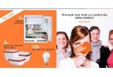 1 x frigider Huttra, 5 x seturi de caserole Ikea 365+, 10 x bec LED E27 Ledare