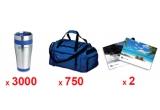 3.000 x cana termos, 750 x geanta de voiaj, 2 x voucher de calatorie de 600 euro