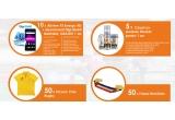 5 x cos cu produse Henkel pentru 1 an, 10 x telefon Allview P5 Energy 4g cu abonament Digi Mobil Optim Nelimitat pentru un an, 50 x fular Romania, 50 x tricou polo rugby