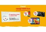 1 x 5000 euro, 8 x Samsung Galaxy S4, 8 x tableta Samsung Galaxy Tab 4, 8 x aparat foto Canon Ixus 170
