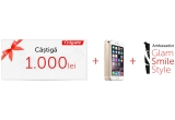 1 x iPhone 6, 1 x voucher Colgate de 1000 ron, 1 x Titlul de Ambasador Glam Smile Style