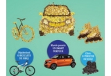 1 x masina Smart Forfour, 8 x Bicicleta Kimmel, 61 x pereche de Role Oxelo 3