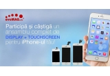 1 x Serviciu inlocuire asamblu complet display + touchscreen iPhone 4 sau iPhone 4S, 1 x Serviciu inlocuire asamblu complet display + touchscreen iPhone 5 sau iPhone 5S, 1 x Serviciu inlocuire asamblu complet display + touchscreen iPhone 6