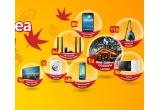 1 x excursie in Laponia + intalnire cu Mos Craciun, 16 x Televizor LED Smart Samsung 101 cm 40JU6000 Ultra HD, 32 x Masina de spalat Samsung, 48 x Telefon Samsung Galaxy A3, 64 x Sistem audio Samsung Home Cinema Blu-ray 3D, 80 x Tableta Samsung Galaxy Tab3 Lit, 96 x Cuptor cu microunde Samsung, 112 x Aspirator Samsung VCC44E0S3B/BOL