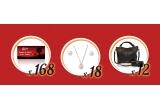 168 x voucher Zumzi de 200 lei, 18 x set de bijuterii Majorica, 12 x geanta Musette