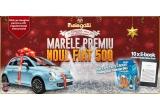 1 x masina Fiat 500, 10 x E-book Reader Kindle Glare Free, 100 x pachet Melegatti Natale Blu