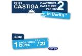 1 x excursie la Berlin de 3 nopti + bani de buzunar, 5 x tricou personalizat cu desenul din aplicatie, 38 x cutie produse Durex