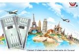 1 x 2 bilete de aviion catre orice destinatie din Europa