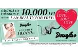 1 x Voucher Douglas in valoare de 10.000 lei, 5 x seturi de parfumerie de lux