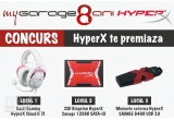 1 x Casti Gaming HyperX Cloud II 7.1 Pink, 1 x SSD Kingston HyperX Savage 120GB SATA-III 2.5 inch, 1 x Memorie externa HyperX SAVAGE 64GB USB 3.0