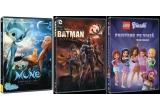 """1 x DVD cu """"Lego Friends: Prietene pe Viata"""", 1 x DVD cu """"Mune: Gardianul Lunii"""", 1 x DVD cu """"Batman: Legaturi de Sange"""""""