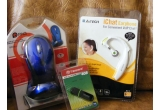 Castiga un mouse optic wireless + banner pe blog 2 luni, un flash drive 4 Gb + banner pe blog 1 luna I, un iChat earphone <br />