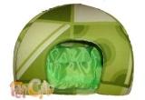 un iglu mic si verde pentru pisoi mici si rasfatati sau pentru catei &quot;pisoi&quot;<br />