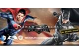 1 x Superman in marime naturala, 1 x cart Hauck Go-Kart Batman, 8 x pachet compus din Coffee to Go + puzzle + pusculita + ochelari night goggles Batman