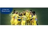 5 x set minge + fular imprimate cu logo Bancpost si Federatia Romana de Fotbal