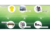 3 x Smart TV, 10 x cos cumparaturi pentru un an, 30 x Tricou suporter, 3 x masa de foosball, 3 x smartwatch, 3 x sistem home cinema