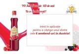 6 x weekend in Austria, 144 x 6 sticle de YO Sirop de Fructe
