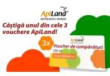 3 x voucher de cumparaturi apiland.ro de 200 ron