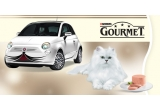 1 x masina Fiat 500, 1488 x Culcuș GOURMET, 62 x Coș cu produse GOURMET