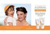 5 x Crema SPF 50+ A-DERMA PROTECT AD pentru piele fragila atopica 150ml  + Crema SPF 50+ A-DERMA PROTECT pentru ten normal spre uscat 40ml + bratara cu senzor UV pentru copii