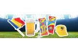 11 x greutatea in bere a caștigatorului, 100 x bonuri cadou Kaufland de 200 lei, 5 x Xbox One + FIFA 16, 1 x bilet la un meci de fotbal in Europa la alegere