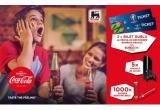 2 x bilet dublu la meciul Romania - Franta in cadrul Euro 2016, 5 x consola Xbox One + joc Fifa 2016, 1000 x baterie reincarcabila cu logo-ul Coca-Cola