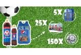 30 x minicooler Pepsi, 50 x Voucher InterSport in valoare de 250 lei, 300 x mingi de fotbal