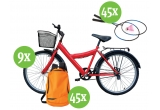 9 x bicicleta B'twin, 45 x set rachete de badminton Artengo, 45 x rucsac Quechua