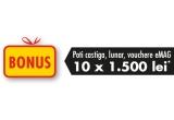 garantat: card cadou de 70 sau 250 ron, 50 x voucher eMag de 1500 ron