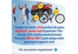1 x ATV pentru copii, 10 x bicicleta pentru copii, 100 x minge pentru copii