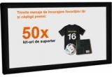25 x kit de suporteri UEFA 2016 (minge de fotbal + tricou + șapca + rucsac), garantat pana la 5 GB internet mobil la Orange